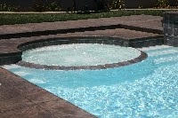Caesars Palace Fiberglass Pool and Spa in Maydelle, TX