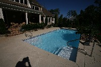 Luxor Deep Fiberglass Pool in Henry, TN